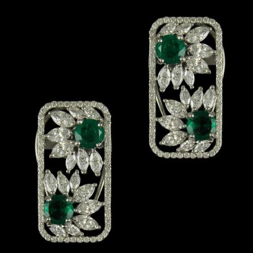 92.5 Sterling Silver Fancy Earrings Studded sworvski Zircon Stones