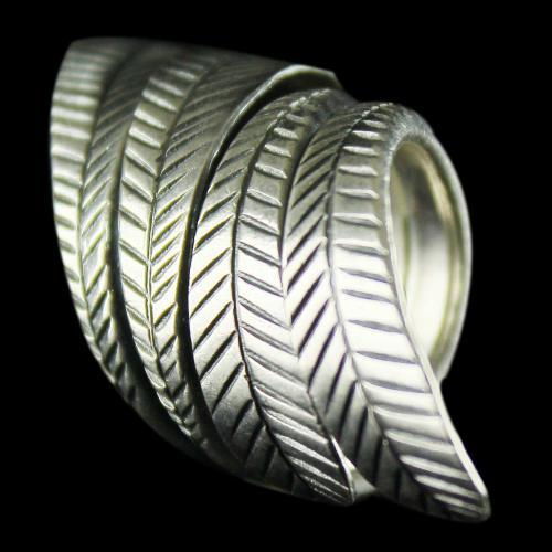 Silver Oxidized Fancy Design Finger Rings