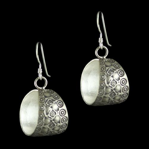 Silver Oxidized Fancy Hanging Earrings