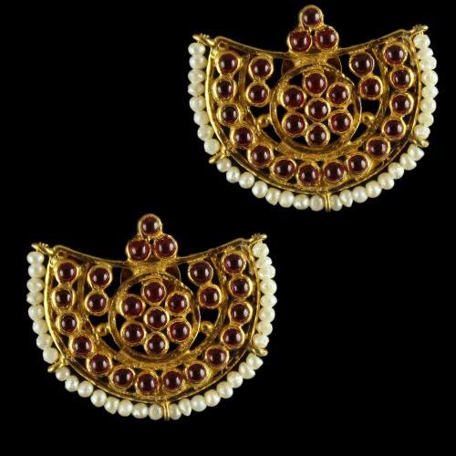 Silver Gold Plated Earrings Semi precious Stones