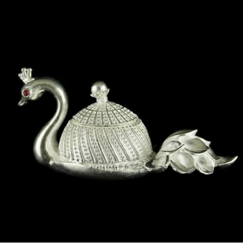 Swan Design Kumkum Box