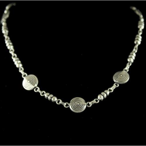 Silver Floral Design Chain