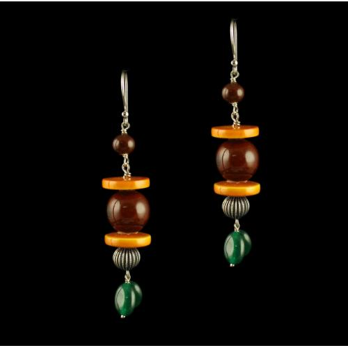 Wooden Hanging Earrings