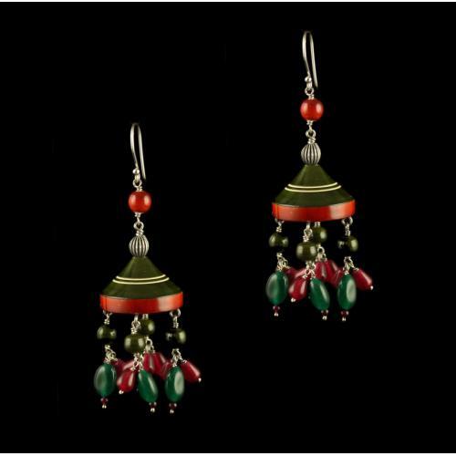Wooden Hanging Earrings
