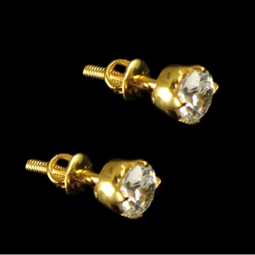 18 Ct Gold Fancy Design Earrings