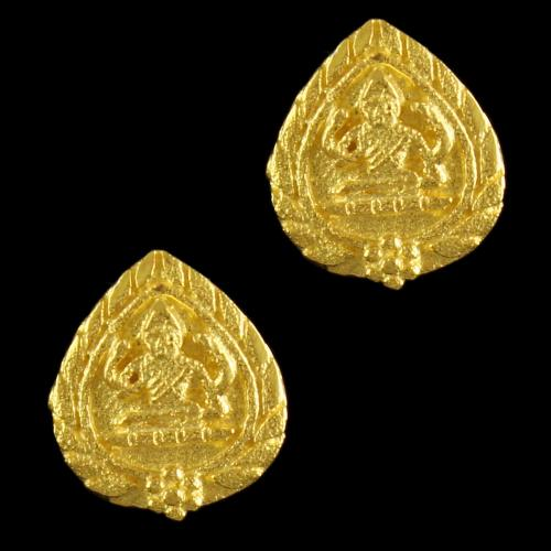Gold Plated Lakshmi Design Earrings