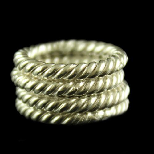 Silver Spiral Design Toe Rings