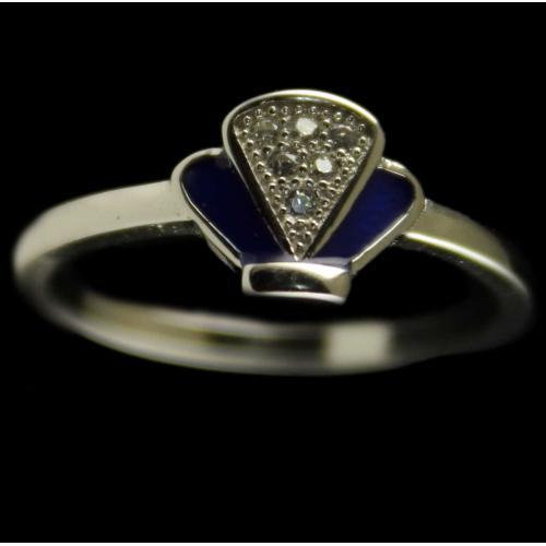 Silver Ring Studded Zircon Stones