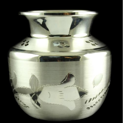 Silver Plated Fancy Design Kalash Kudam
