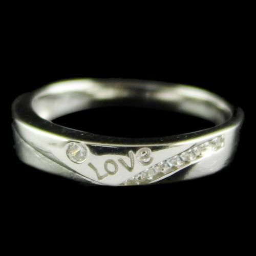 Silver Plated Fancy Design Band Rings