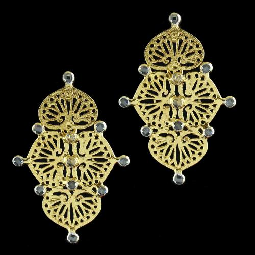 Silver Gold Plated Hanging Earring