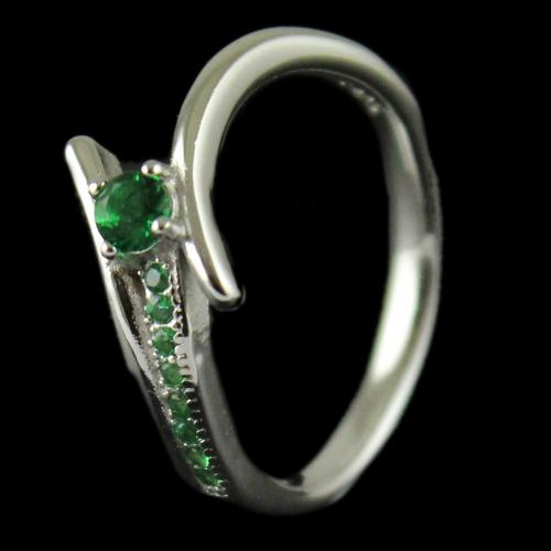 R9112 Sterling Silver Ring Studded Semi Precious Stones