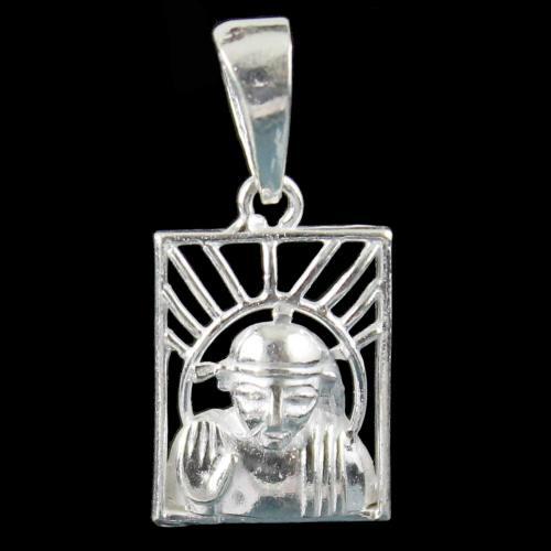 Silver God Saibaba Pendant