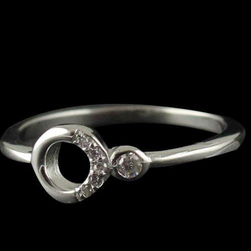 R13400 Sterling Silver Fancy Ring Studded Zircon Stones