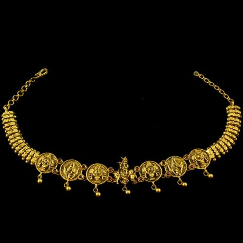 Gold Plated Antique Design Oddiyanam