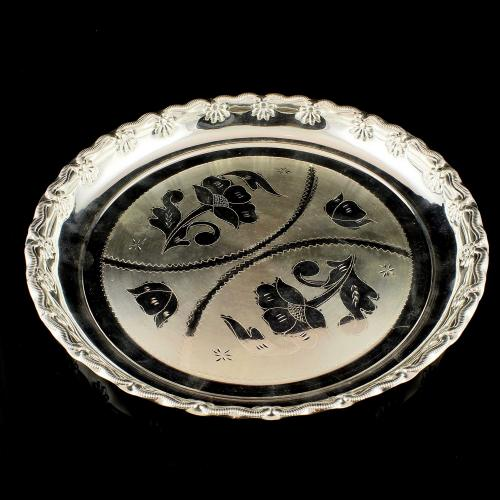 Silver Engraving Design Plate