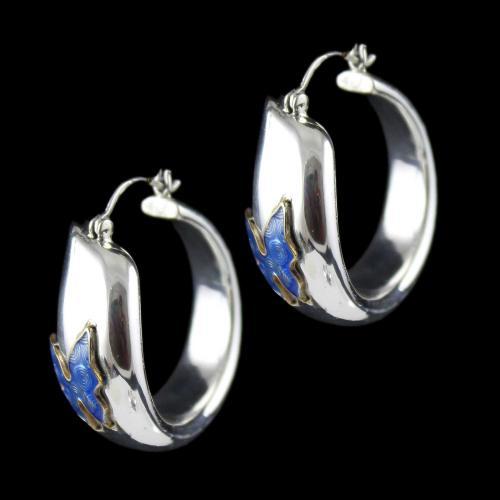 Silver Fancy Design Bali Earring