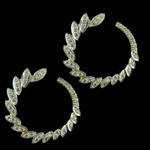 Gold Plated Fancy Design Chandbali Earring Zircon Stones