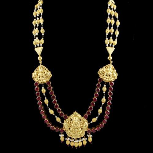 Lakshmi varikai Long Necklace Onyx And Pearl