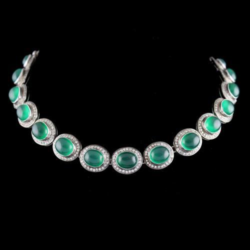 onyx And Zircon Victoria Necklace