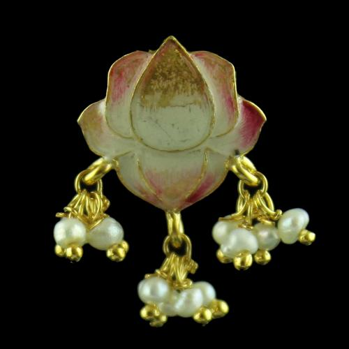 Gold Plated Earring Drops With Pearl