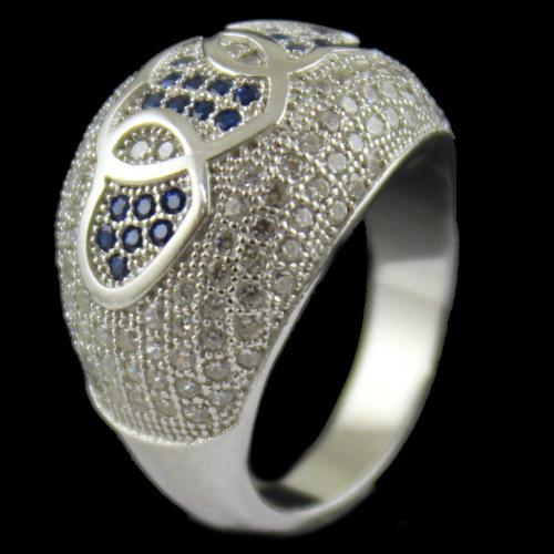 Blue Zircon Stone Bridal Ring