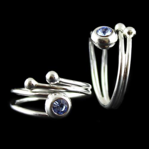 Two Layer Toe Ring Zircon Stone