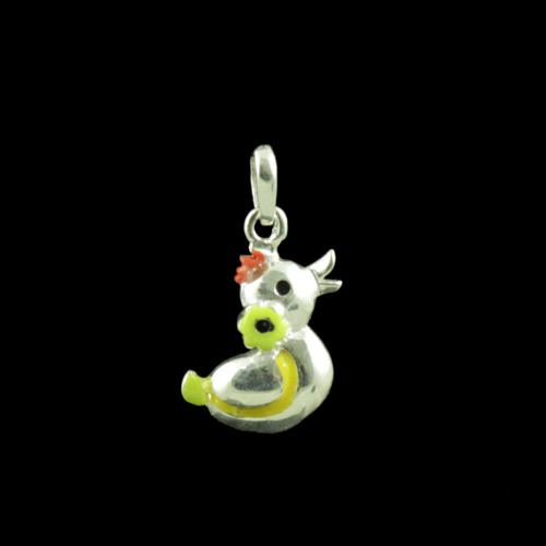 Duck Casual Wear Silver Baby Pendent
