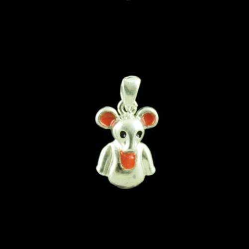Mouse Casual Wear Silver Baby Pendant