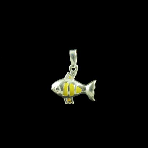 Fish Casual Wear Silver Baby Pendant