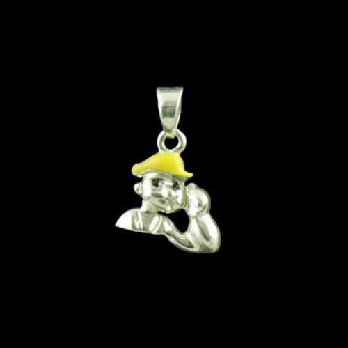 Popeye Casual Wear Silver Baby Pendant