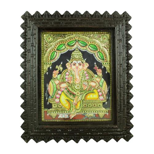 YELLOW DHOTHI GANESHA