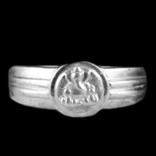 Sterling Silver Lord Ganesha Traditional Rings