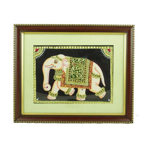 TANJORE PAINTING ELEPHANT COLOUR
