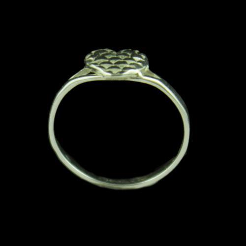 Silver Baby Hearten Ring