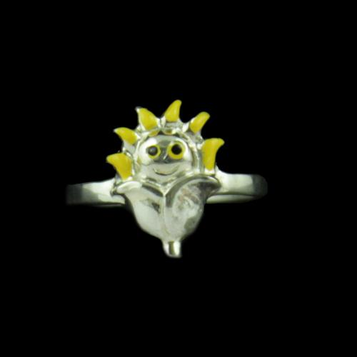 Silver Baby Sun Flower Ring