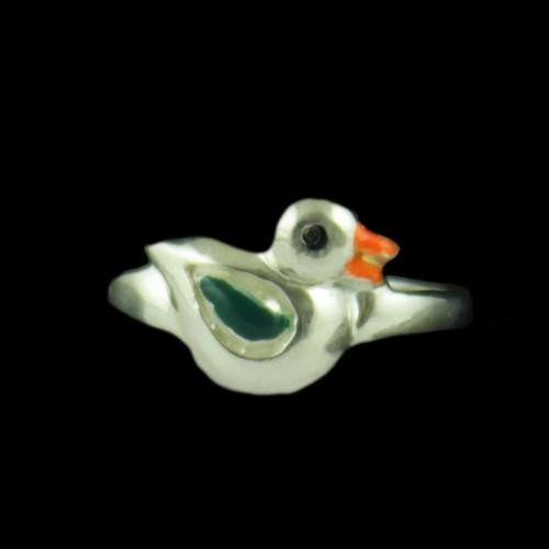 Silver Baby Sparrow Ring
