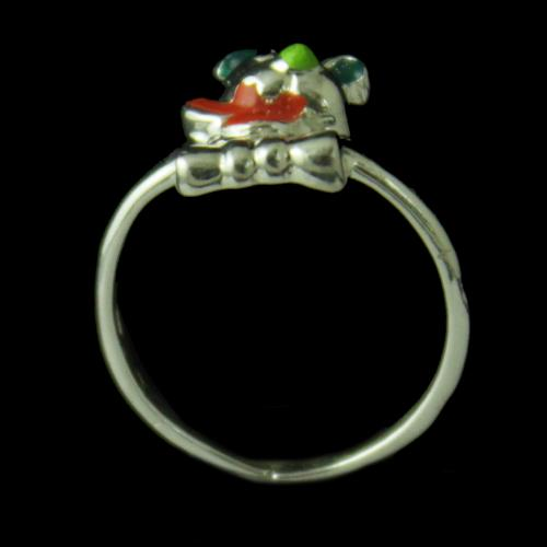 Silver Baby Teddy Ring