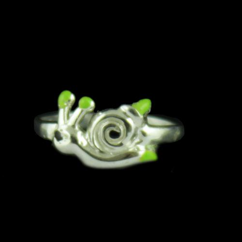 Silver Snail Baby Ring
