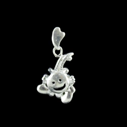 Silver Smiley Design Pendant