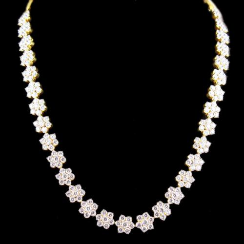 Gold Plated CZ Stones Party Wear Necklaces