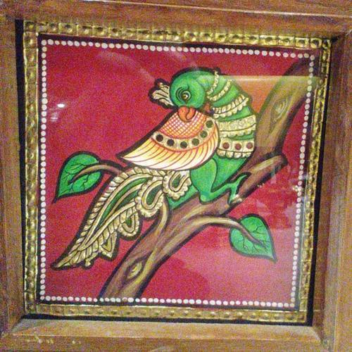 TANJORE PAINTING PARROT