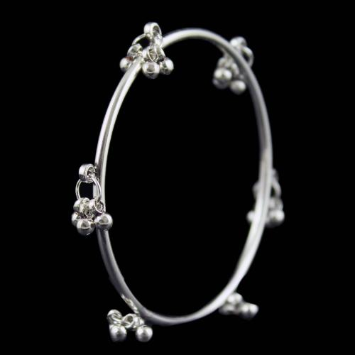 SILVER OXIDIZED BANGLE WITH BALLS