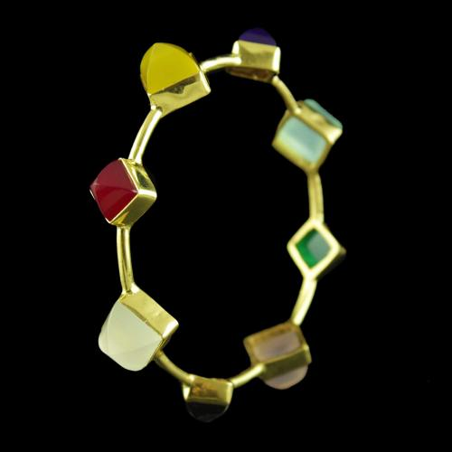 GOLD PLATED MULTI COLOR BANGLE