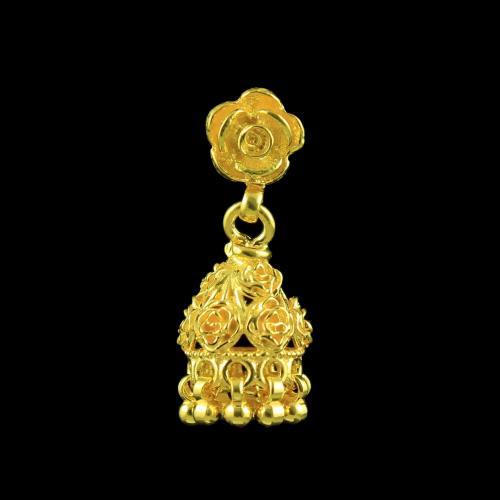 Antique God Design Gold plated Jhumka