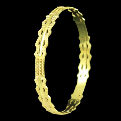 Gold Plated Plain Bangle