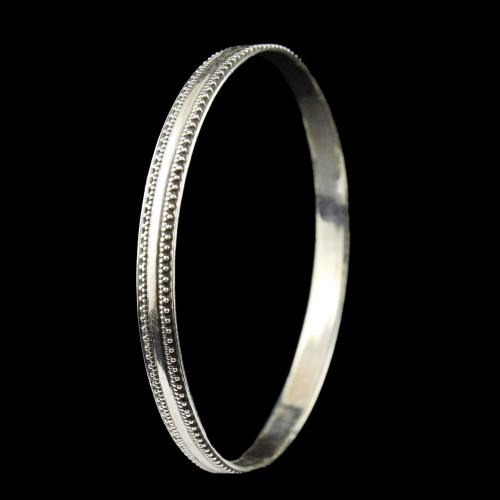 Silver Plated Fancy Design Bangles