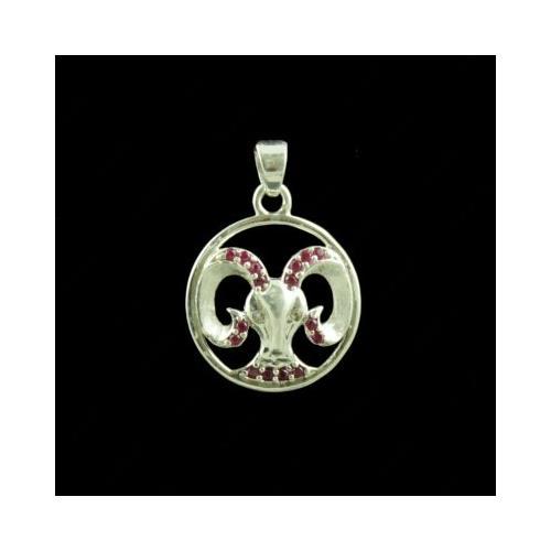 Zodiac Scorpio Silver Pendant With Zircon Stone