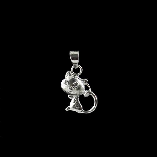 STERLING SILVER CAT PENDANT