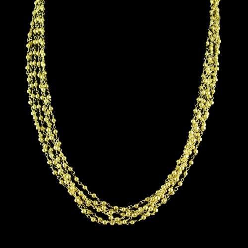 Blue Fancy Bunch Necklaces